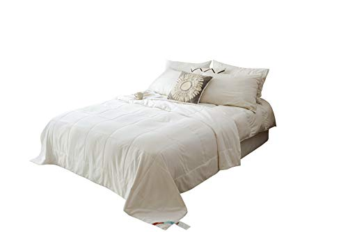 MOON'S SLEEPWARES / Machine Washable / [ Queen Size ] [ 4.5 Tog Summer ] [ 100% Pure Silk Filling ] Silk Filled Duvet SDMW220x230-1