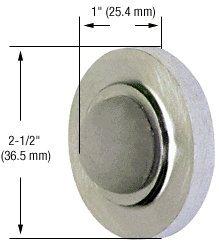 CRL Aluminum Wall Mounted Convex Type Door Stop (Convex Wall Door Stop)