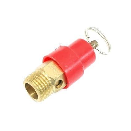 eDealMax 1 / 4PT hilo de seguridad de presión Red válvula de alivio para el compresor de aire - - Amazon.com