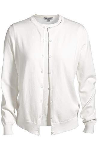 Edwards Ladies' Corporate Performance Twinset Sweater 2XL White