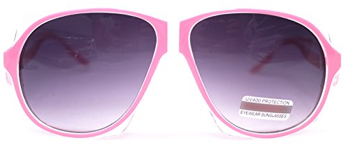 Womens Pink Sunglasses Fashion Vintage Eyeglasses Large Oversized Bold Thick Frame (PINK 136, - Gazelle Shades