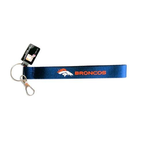 aminco NFL Denver Broncos Wristlet Lanyard Keychain