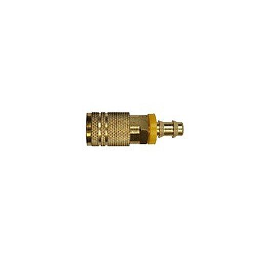 Brass Plated 1//4 I//M Lock-On 3//8 ID 3//8 ID Amflo C20-44LBP-100 Coupler 1//4 I//M Lock-On