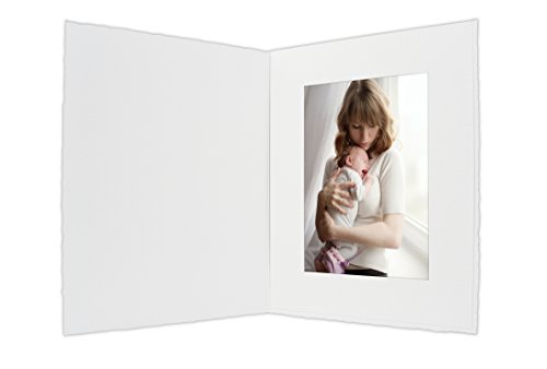 Golden State Art, Cardboard Photo Folder For a 4x6 Photo (Pack of 50) PF054 White Color (White)