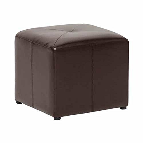 Baxton-Studio-Pebbles-Cube-Leather-Ottoman-Dark-Brown