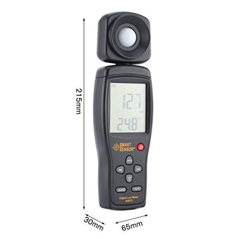 AS813 Digital Luxmeter Light Meter Lux/FC Meter Luminometer Photometer 100,000 Lux Spectrometer Spectrophotometer
