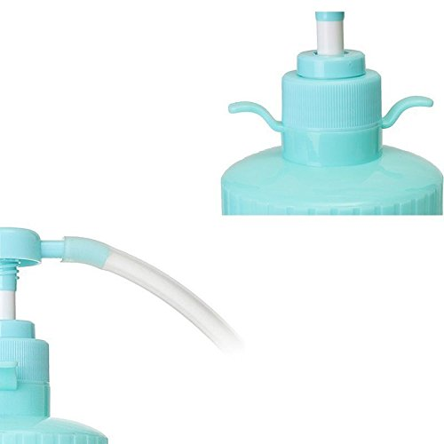 Blue & clear [WALLER PAA] 300ml Pump Action Douche Enema Bottle with Nozzle Vaginal Anal Cleaning