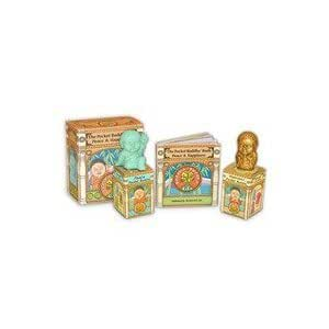 -  Pocket Buddha Kit of Aqua Peace and Gold Happiness 1.5 Inches Tall