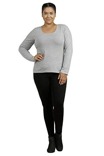 Sofra Cotton Leggings - Women's Medium Weight Breathable Cotton Leggings (XL