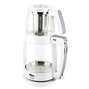 Fakir 41002689 Shaye Çay Makinesi, 1800 W, 2.3 Litre, Plastik, Beyaz