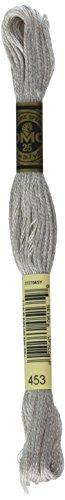 DMC 117-453 Six Stranded Cotton Embroidery Floss, Light Shell Gray, 8.7-Yard