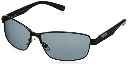 Foster Grant Men's Transport Polarized Rectangular Sunglasses, Black, 140 mm (Foster Sunglasses Grant Polarized)