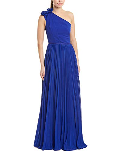 Kay Unger Womens Gown, 8, Blue
