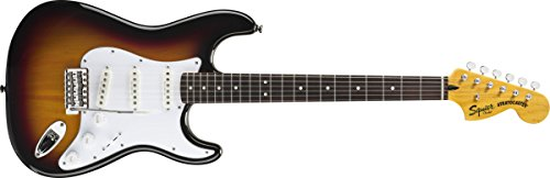 Stratocaster 3 Colour - Squier by Fender Vintage Modified Stratocaster Electric Guitar - 3-Color Sunburst - Rosewood Fingerboard