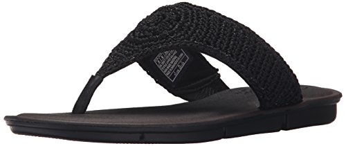 Skechers Cali Women's Indulge 2-Beach Angel Flip Flop, Black, 8 US/8 B US