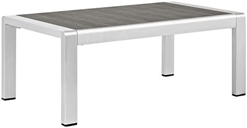 Modway Shore Aluminum Outdoor Patio Coffee Table