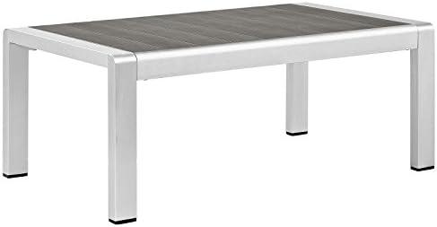 Modway Shore Aluminum Outdoor Patio Coffee Table