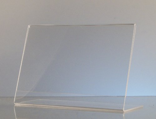 Dazzling Displays 6-pack Acrylic 6 x 4 Slanted Sign Holders by Dazzling Displays