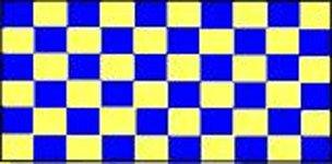 Novelties Direct-Check Blu e Giallo Bandiera 1, 5x 0, 9m (100% poliestere) con occhielli per appendere MIdland