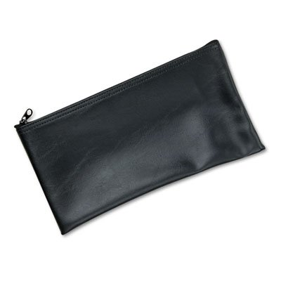 Leatherette Zippered Wallet, Leather-Like Vinyl, 11w x 6h, Black, Sold as 1 Each - Leatherette Zippered Wallet Leather