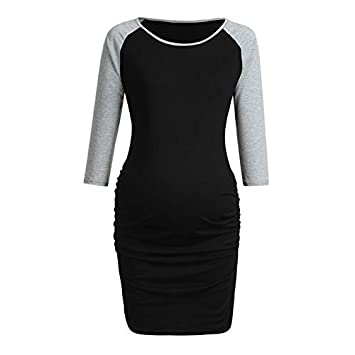 b53e88fac8f Image Unavailable. Women s Maternity Long Sleeves Round Collar T-Shirt Tops  Pregnancy ...