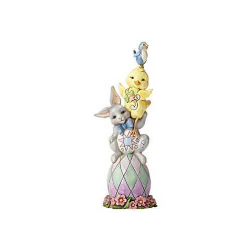 Jim Shore Heartwood Creek Collection 6.4-inch Stone Resin Pint Sized Easter - Bunny Shore Easter Jim