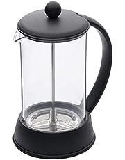KitchenCraft KCLX8CUP Le'Xpress 8 Cup Cafetiere Franse pers koffiezetapparaat met hittebestendige kunststof kan 1 liter, zwart