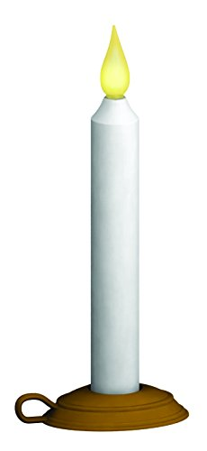 Xodus Innovations FPC1210 Battery Operated LED Dusk to Dawn 9 Taper Window Candle with Flicker Flame