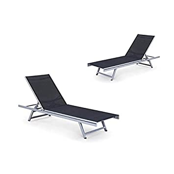 Fabulous Amazon Com Home Square Set Of 2 Reclining Patio Chaise Theyellowbook Wood Chair Design Ideas Theyellowbookinfo