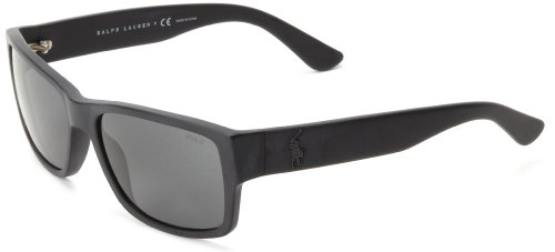 Polo Ralph Lauren 0PH4061 50018757 Square Sunglasses,Matte Black,57 - Eyeglasses Frames Ralph Polo Lauren
