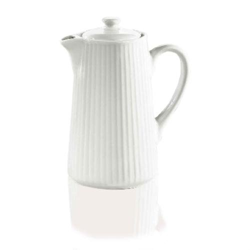 Pillivuyt Plisse - Cafetera (porcelana, 35 cl), color blanco ...