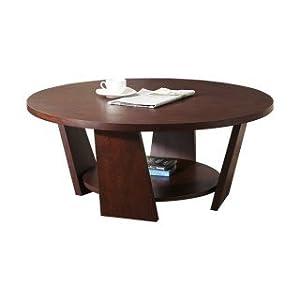 Steel Craft Acker 76.2x76.2x45.7 cm Round Coffee Table (Wenge)