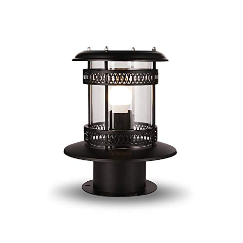KMYX Solar Lawn Post Lights Outdoor Wall Light Waterproof Garden with Grass Shade Exterior Outdoor Post Lantern Villa Street Pillar lamp City Electric Dual-use Column Lamp E27