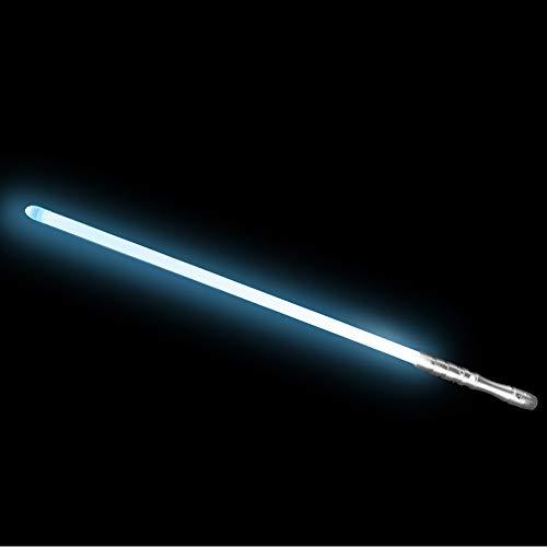 YDD LED Light Saber Force FX Lightsaber with Sound and Light, Metal Hilt, Star Wars Toy for Kids (Silver Hilt Iceblue Blade)