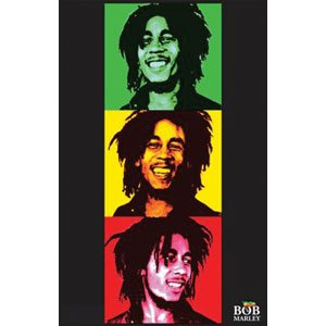 Bob Marley - Blacklight Poster