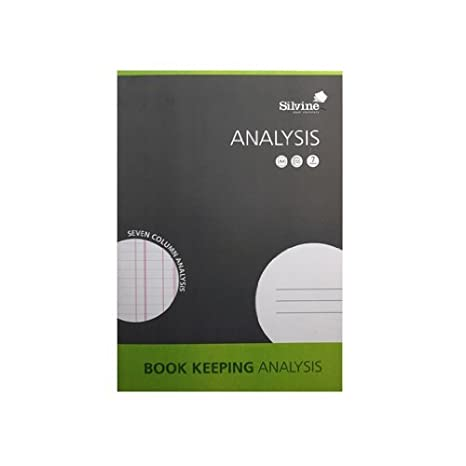 SJA4A 2 x Book Keeping Notebook Analysis 32 Pages 7 Column A4 Ref SJA4A