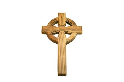 - Celtic Cross | St. Patrick's | Gaelic Olive Wood Wall Hanging Cross | Handcrafted in the Holyland (8