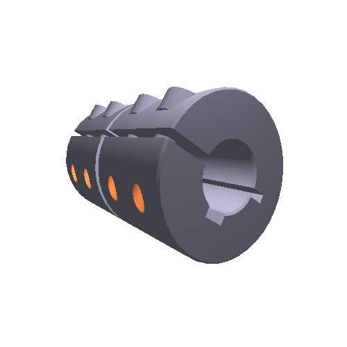 Climax Metal GMSCC-25-25-KW Pack of 5 pcs GMSCC-Series Steel Metric Clamp Coupling