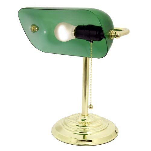 Light Accents Metal Bankers Lamp Desk Lamp With Green