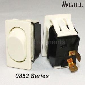 McGill 0852 Momentary (On)/Off Rocker Switch White SPST