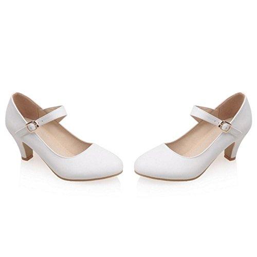 White Pumps Women Strap Fashion Zuban Heel Chila Block ga01fwS