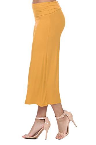 iliad USA 7012 Women's Knit Jersey Capri Culottes Pants Mustard XL