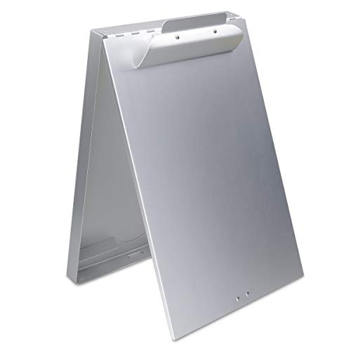 Storage Box Box Binder (Aluminum Clipboard with Storage Box, Heavy Duty Steel Clipboard with High Capacity Clip, Self Locking Latch Metal Binder Form Holder for Letter Paper Borad, Office, Medical Staff, Silver)