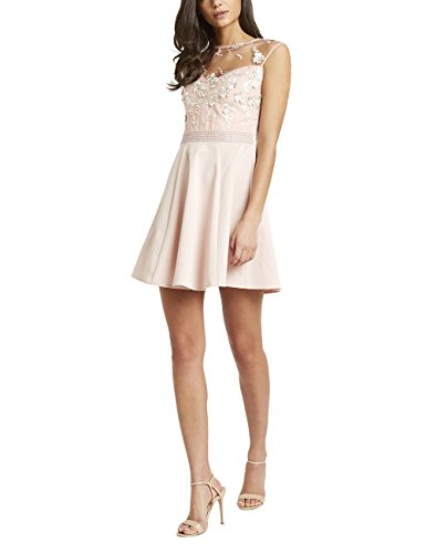 3d embellished flower dress - 5