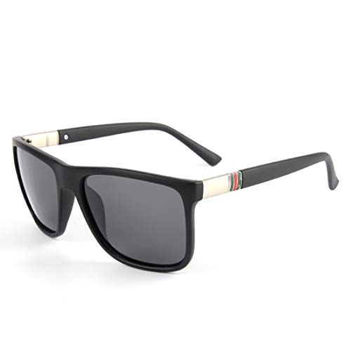 polarizadas Color Hombres Black antideslumbrantes Reflejos para Lens Clear Sol sin Frame Frame Gray Sakuldes Matte Gafas 100 Sol Gray Gafas UV de Lens Black de qXw64t1A