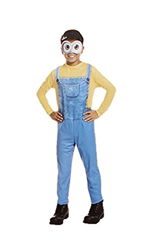 Minions/Despicable Me - Minion Bob Children's Costume Medium (Size 8-10) Ages (Family Themed Group Halloween Costume Ideas)