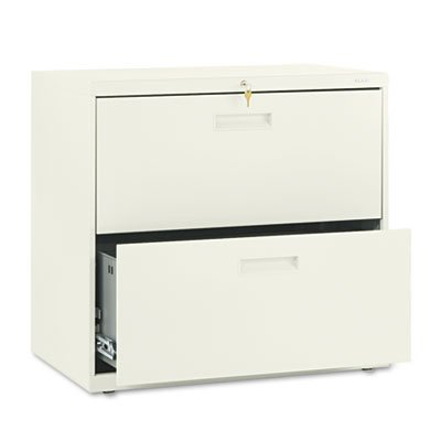 500 Series Two-Drawer Lateral File, 30w x 19-1/4d x 28-3/8h, Putty, Sold as 1 Each