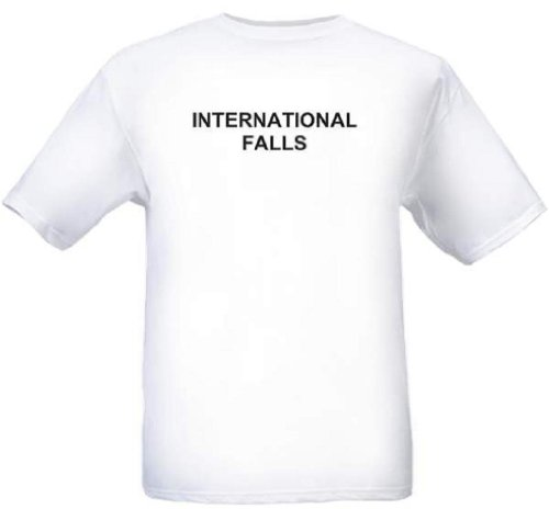 INTERNATIONAL FALLS - City-series - White T-shirt - size - Cities Twin The Malls In