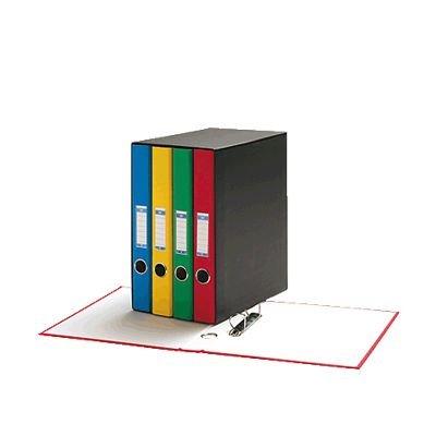 Unisystem 090641 - Pack de 4 carpetas, lomo 2 - 25 mm, A4, multicolor
