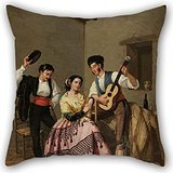 [Oil Painting Manuel Cabral - La Copla Pillowcover 20 X 20 Inches / 50 By 50 Cm Best Choice For Relatives,coffee House,indoor,pub,father,bench With Both] (Cool Face Painting Costumes)